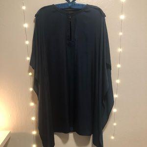 BCBGmaxazria Dark blue satin Midi dress!